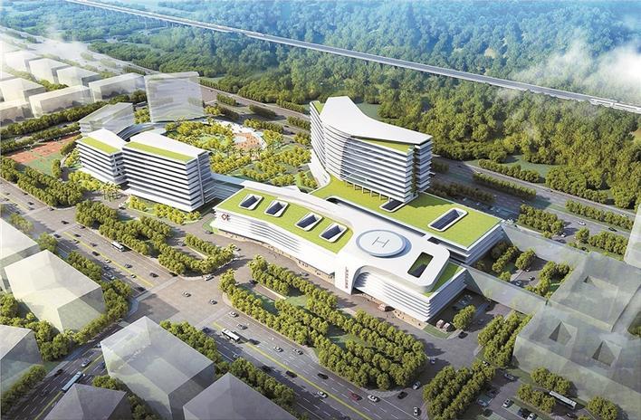 中山大学孙逸仙纪念医院深汕中心医院规划设计图.图片
